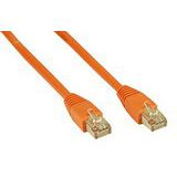 (€13,00*/1m) 0.30m InLine Cat. 5e Patchkabel SF/UTP RJ45 Stecker auf RJ45 Stecker Orange