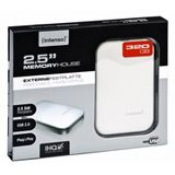 320GB Intenso Portable Hard Drive USB 2.0 weiß