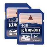 4 GB Kingston Standard Doppelpack SDHC Class 4 Retail