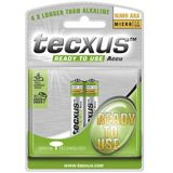 Tecxus® READY-TO-USE Akku Ni-MH Micro, AAA, 1,2 V, 800 mAh, 2er Blister