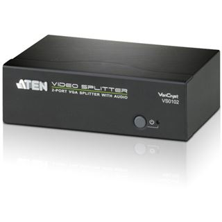 ATEN Technology VS0102 2-fach VGA-A/V-Splitter