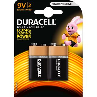 Duracell Batterien 9V Block Plus Power 2er-Pack