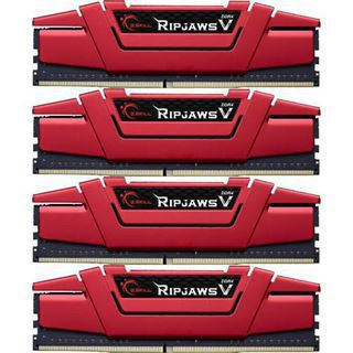 64GB G.Skill RipJaws V rot DDR4-2800 DIMM CL15 Quad Kit