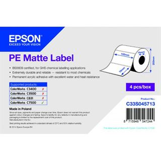 Epson PE Matte Label 102mm x 76mm, 1570 labels