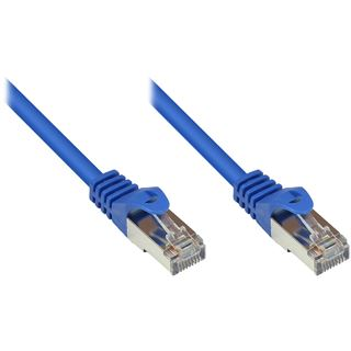(€26,00*/1m) 0.15m Good Connections Cat. 5e Patchkabel SF/UTP RJ45 Stecker auf RJ45 Stecker Blau PVC/Rastnasenschutz