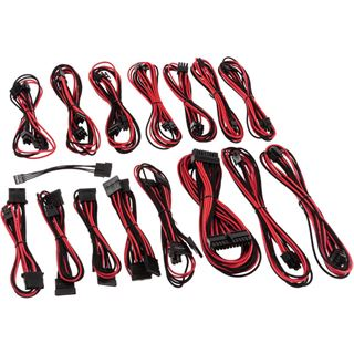 CableMod E-Series G2 & P2 Cable Kit - schwarz/rot