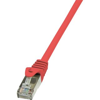 (€3,90*/1m) 1.00m LogiLink Cat. 5e Patchkabel F/UTP RJ45 Stecker auf RJ45 Stecker Rot Twisted Pair