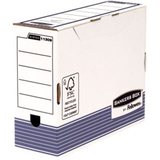 Fellowes BANKERS BOX SYSTEM Archiv-Schachtel, blau, (B)100mm