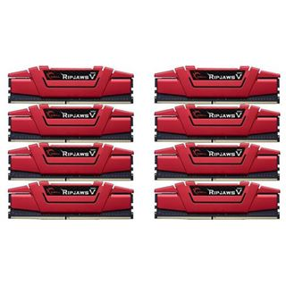 64GB G.Skill RipJaws V rot DDR4-3200 DIMM CL16 Octa Kit