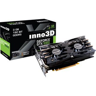 3GB Inno3D GeForce GTX 1060 Twin X2 Aktiv PCIe 3.0 x16 (Retail)