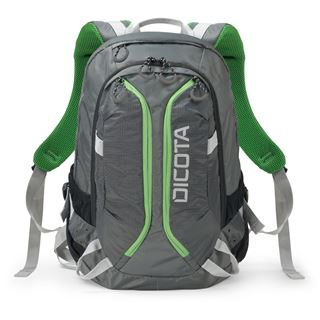 """Dicota Backpack Active 14-15.6"""" grey/lime"""