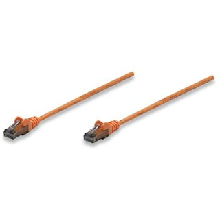 (€3,90*/1m) 1.00m Intellinet Cat. 6 Patchkabel U/UTP RJ45 Stecker auf RJ45 Stecker Orange