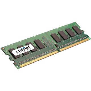 1GB Crucial CT12864AA800 DDR2-800 DIMM CL6 Single