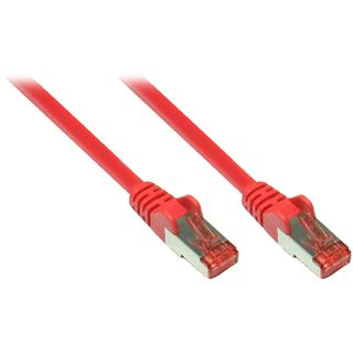 (€7,80*/1m) 0.50m Good Connections Cat. 6a Patchkabel S/FTP PiMF RJ45 Stecker auf RJ45 Stecker Rot halogenfrei