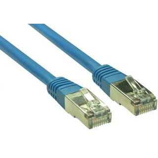 (€0,69*/1m) 10.00m Good Connections Cat. 5e Patchkabel S/FTP RJ45 Stecker auf RJ45 Stecker Blau