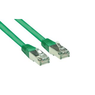 (€7,80*/1m) 0.50m Good Connections Cat. 5e Patchkabel S/FTP RJ45 Stecker auf RJ45 Stecker Grün