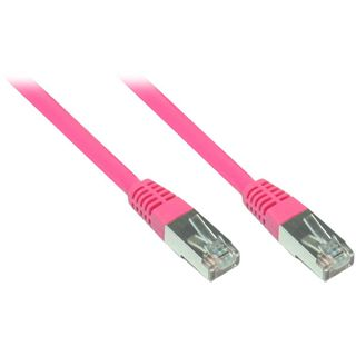 (€0,70*/1m) 7.00m Good Connections Cat. 5e Patchkabel S/FTP RJ45 Stecker auf RJ45 Stecker Pink