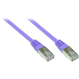 (€3,90*/1m) 1.00m Good Connections Cat. 5e Patchkabel S/FTP RJ45 Stecker auf RJ45 Stecker Violett