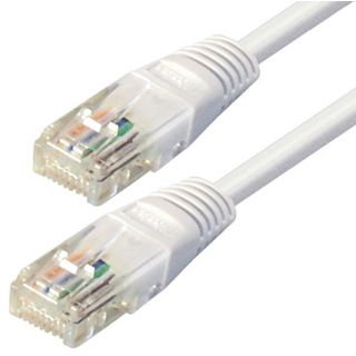 (€0,33*/1m) 30.00m Good Connections Cat. 5e Patchkabel S/FTP RJ45 Stecker auf RJ45 Stecker Weiß