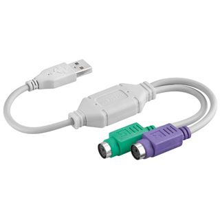Good Connections Adapter USB A Stecker auf 2xPS/2 Buchse