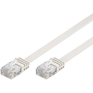 (€0,45*/1m) 20.00m Good Connections Cat. 6 Patchkabel flach UTP RJ45 Stecker auf RJ45 Stecker Weiß