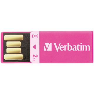 2 GB Verbatim Clip-it USB Drive pink USB 2.0