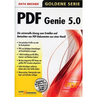 Data Becker PDF Genie 32/64 Bit Deutsch Office Vollversion PC (DVD)