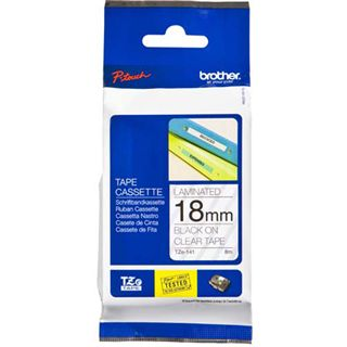 Brother P-Touch TZE-141 black on clear 18mm