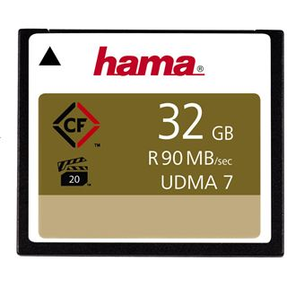 32 GB Hama High Speed Gold Compact Flash TypI 600x Retail