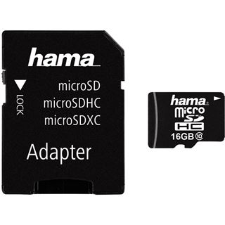 16 GB Hama Mobile microSDHC Class 10 Retail inkl. Adapter