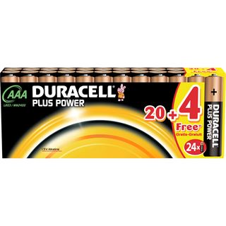 Duracell Plus Power AAA / Micro Alkaline 1.5 V 24er Pack