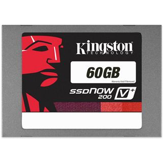 "60GB Kingston SSDNow V+ 200 2.5"" (6.4cm) SATA 6Gb/s MLC asynchron (SVP200S3/60G)"
