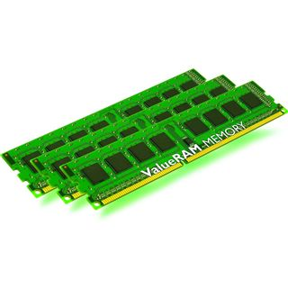 12GB Kingston ValueRAM DDR3-1600 ECC DIMM CL11 Tri Kit