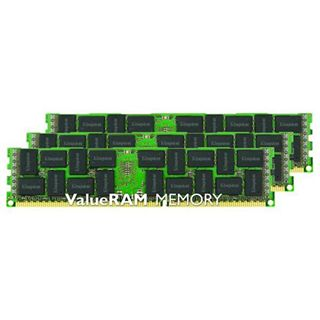 24GB Kingston ValueRAM Intel DDR3-1600 regECC DIMM CL11 Tri Kit
