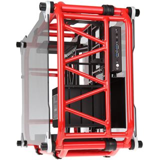 IN WIN D-Frame Midi Tower ohne Netzteil rot