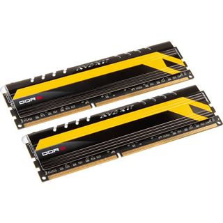 8GB Avexir Core Series MPOWER Edition gelbe LED DDR3-1600 DIMM CL9 Dual Kit