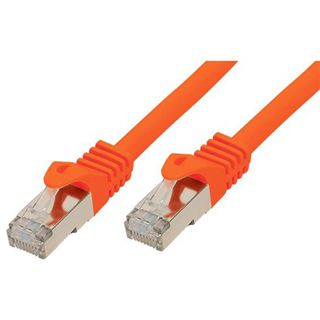 (€15,60*/1m) 0.25m Good Connections Cat. 7 Patchkabel S/FTP PiMF RJ45 Stecker auf RJ45 Stecker Orange halogenfrei