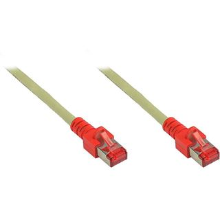 20.00m Good Connections Cat. 6 Crossoverkabel S/FTP PiMF RJ45 Stecker auf RJ45 Stecker Grau halogenfrei