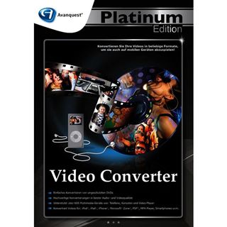 Avanquest Video Converter - Platinum Edition 32 Bit Deutsch Videosoftware Vollversion PC (DVD)