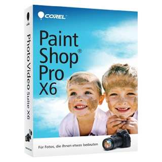 Corel Paint Shop Pro Photo X6 32/64 Bit Deutsch Grafik Vollversion PC (DVD)