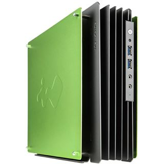 IN WIN H-Frame Mini Mini-ITX 180 Watt grau/gruen