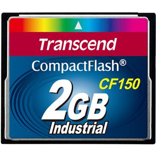 2 GB Transcend CF150 Industrial Grade Compact Flash TypI 150x Retail