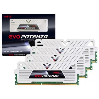 16GB GeIL EVO Potenza White Series DDR3-2400 DIMM CL11 Quad Kit