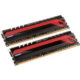 8GB Avexir Core Series MPOWER Edition rote LED DDR3-2400 DIMM CL11 Dual Kit