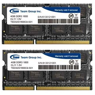 8GB TeamGroup Elite Series DDR3L-1600 SO-DIMM CL11 Dual Kit