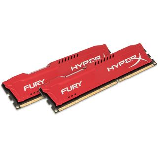 8GB HyperX FURY rot DDR3-1600 DIMM CL10 Dual Kit