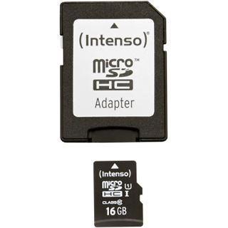 16 GB Intenso microSDHC UHS-I Retail inkl. Adapter auf SD