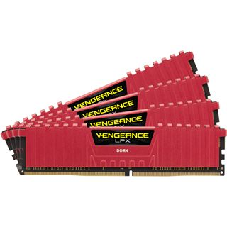 16GB Corsair Vengeance LPX rot DDR4-2666 DIMM CL15 Quad Kit