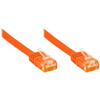 2.00m Good Connections Cat. 6 Patchkabel U/UTP RJ45 Stecker auf RJ45 Stecker Orange flach
