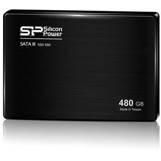 "480GB Silicon Power Slim S60 2.5"" (6.4cm) SATA 6Gb/s MLC (SP480GBSS3S60S25)"